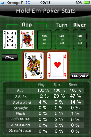 Screenshot HoldEm Poker Stats